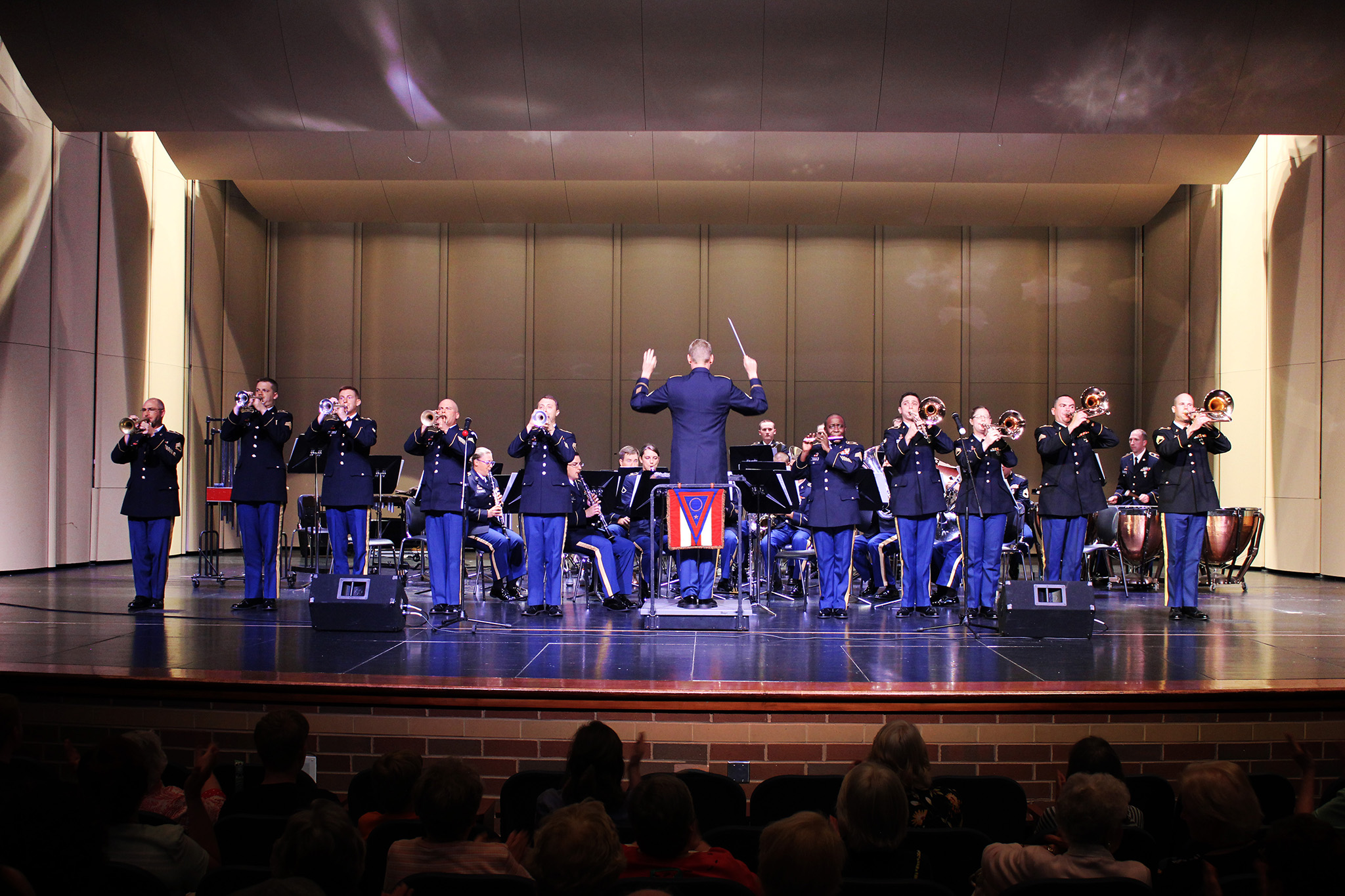 The 122nd Army Band performs The Stars and Stripes Forever at Kenston High School in July 2015
